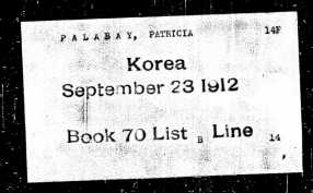 My great-grandma Patricia's boarding pass
